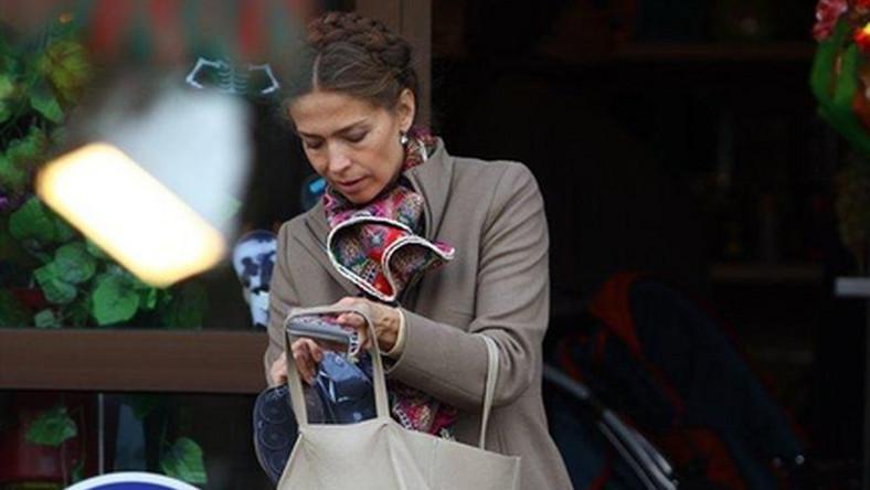 Żona Palikota na bazarku. A mówiła, że robi zakupy w Mediolanie