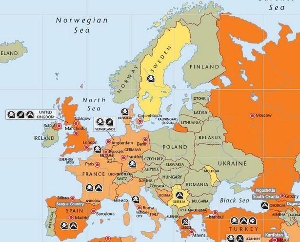 Zagrożenie terroryzmem Europa