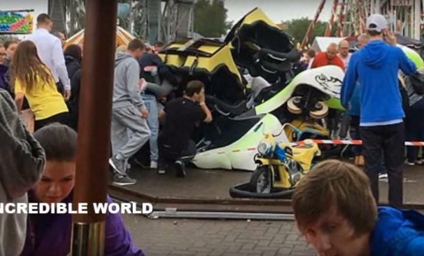 11 osób, w tym dziewięcioro dzieci zostało rannych w wypadku kolejki górskiej w parku rozrywki w Szkocji