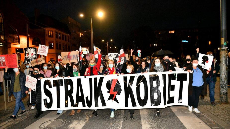 Protest Strajku Kobiet we Wrocławiu