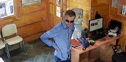 Bezczelny złodziej kradł pod okiem kamery. Szuka go policja