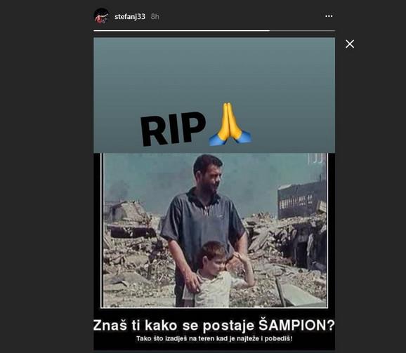Fotografija koju je Janković objavio na Instagramu