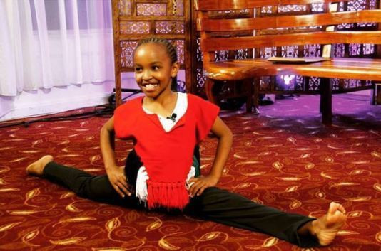 Child acrobat Wendy Waeni