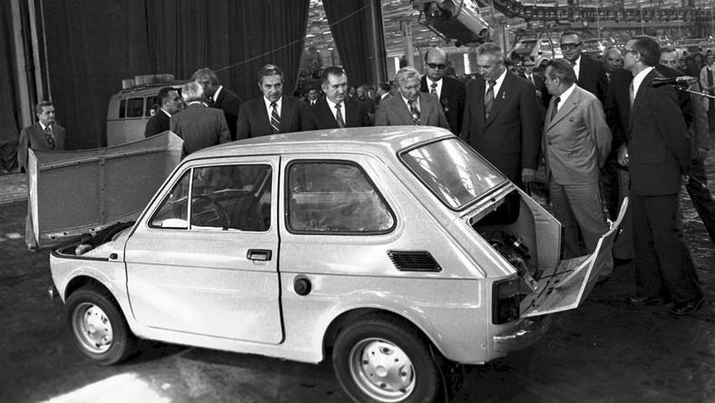Edward Gierek w Fabryce Samochodów Małolitrażowych