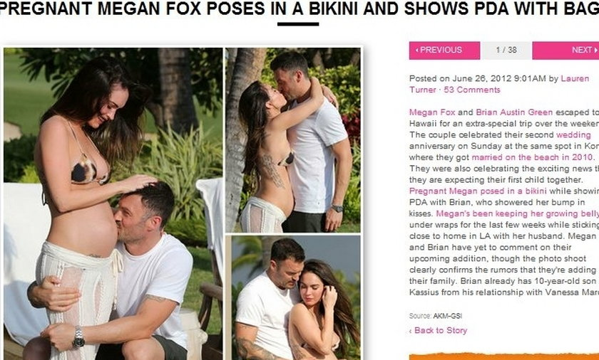 Megan Fox w ciąży