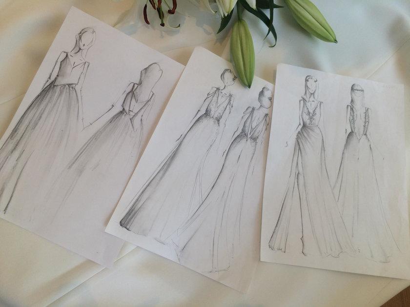 Projekt sukni ślubnej Rozenek