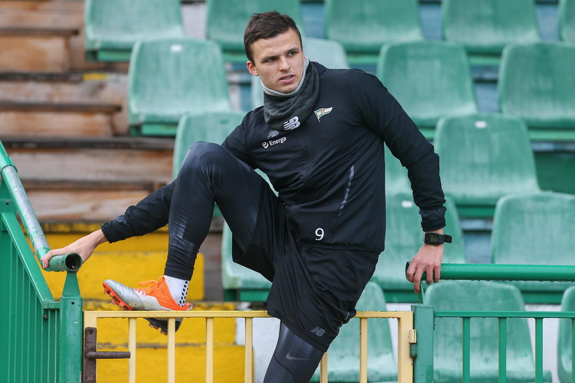 Pilka nozna. Ekstraklasa. Lechia Gdansk. Trening. 22.03.2019