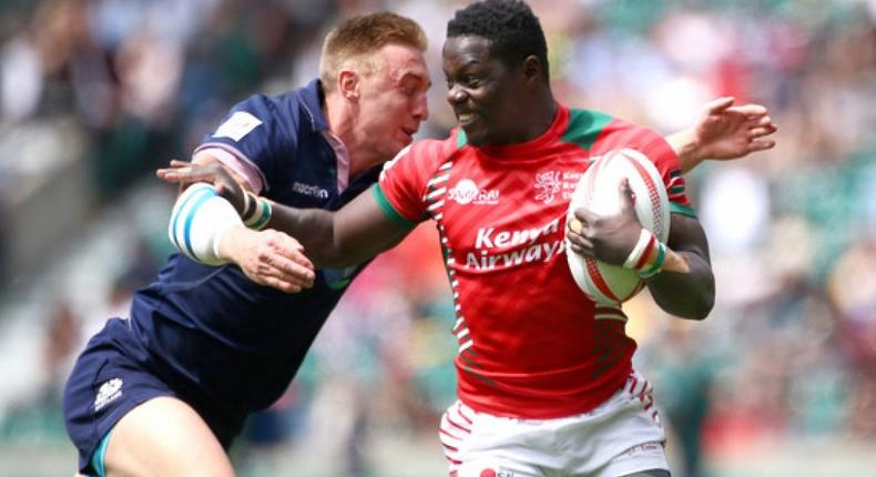 Former Rugby Player Alex Olaba during a past match