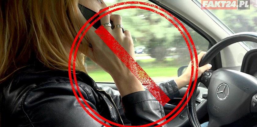 """""""Łapki na kierownicę"""". Policja ostrzega przed używaniem komórek"""