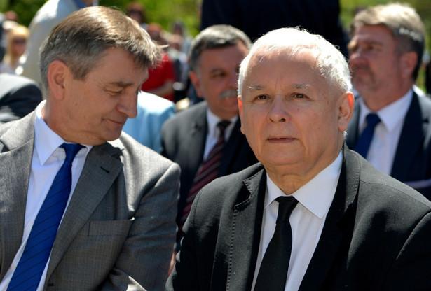 Prezes PiS Jarosław Kaczyński i marszałek Sejmu Marek Kuchciński, PAP/Darek Delmanowicz