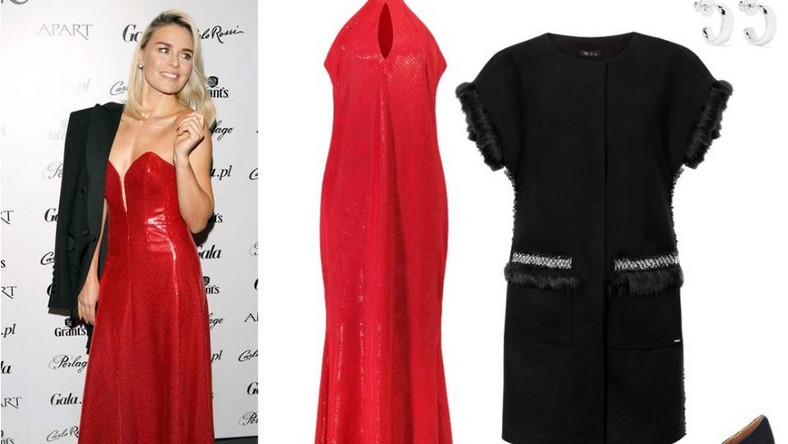 Jeżeli wybieramy się na bal sylwestrowy należy postawić na długie suknie, nasz wybór to czerwona cekinowa z dekoltem halter – robi wrażenie! Na nią wystarczy zarzucić czarną marynarkę i klasyczne czarne szpilki. Biżuteria w tym przypadku musi być delikatna, aby nie przeciążyć stylizacji.
