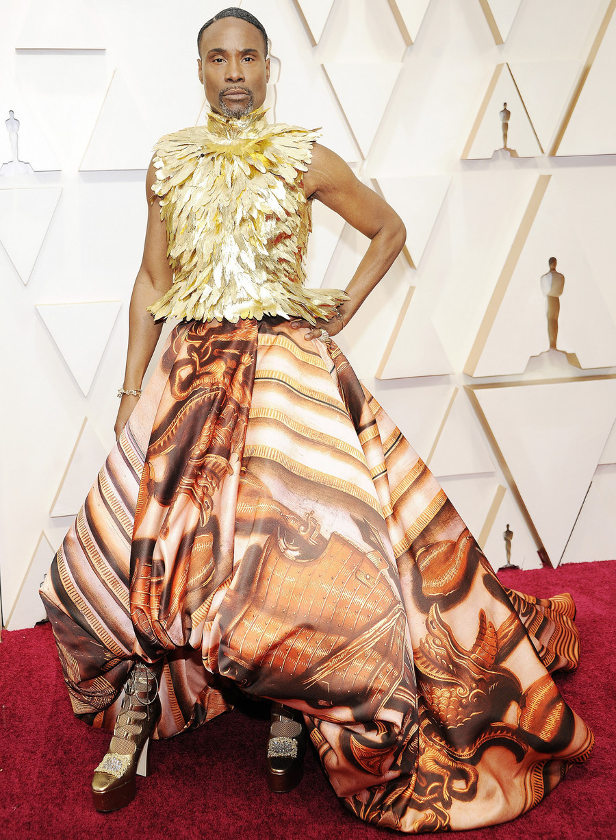 Billy Porter w sukni Giles Deacon Couture / Sienna Conwell/Broadimage/Broad Image/East News