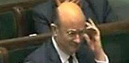 Obraźliwy gest Rostowskiego w Sejmie