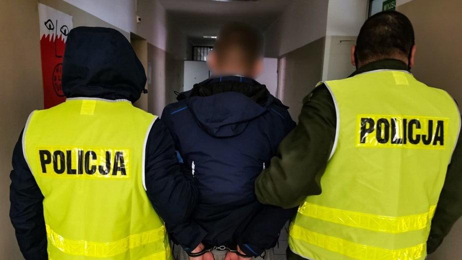 35-latek trafił do aresztu tymczasowego, fot. policja