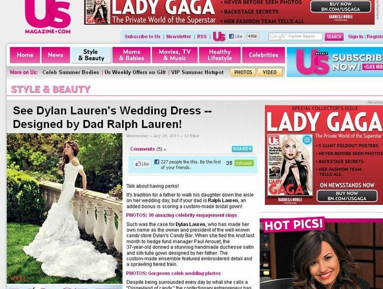 Piękna suknia ślubna Dylan Lauren