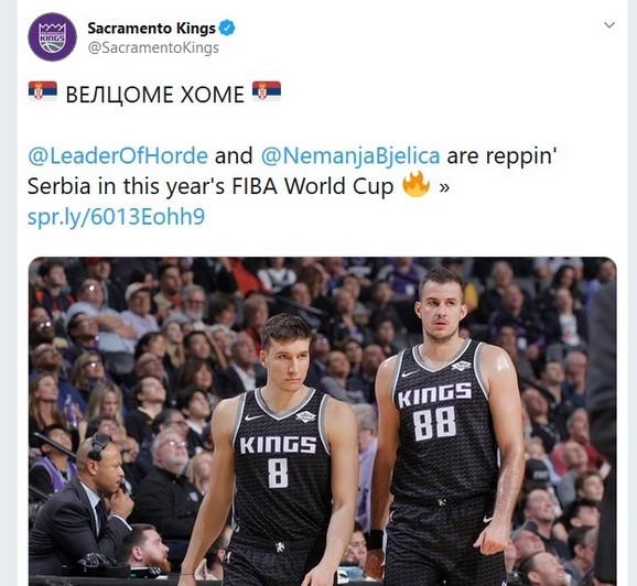 Objava Sakramento Kingsa na Tviteru