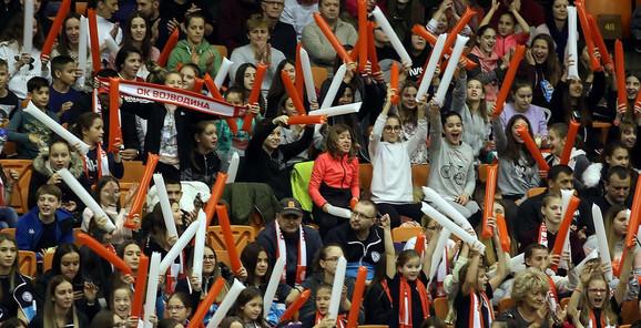 Navijači na meču odbojkaške Lige šampiona između OK Vojvodina i Fridrihshafena