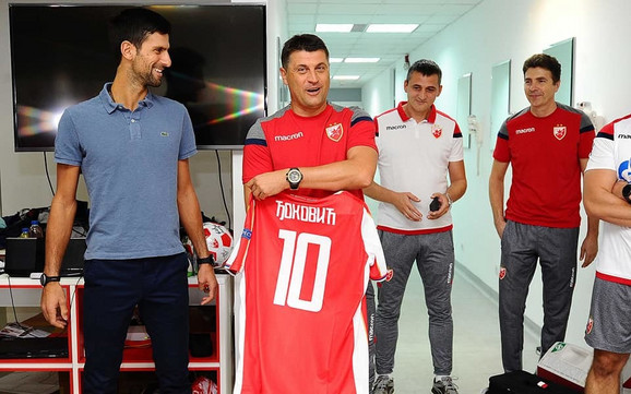 Novak Đoković i Vladan Milojević