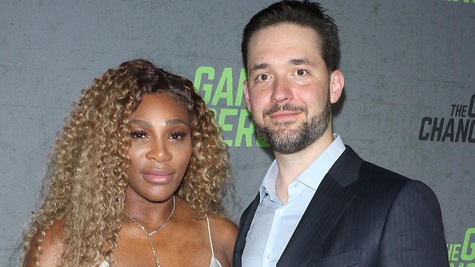 Serena Williams z mężem