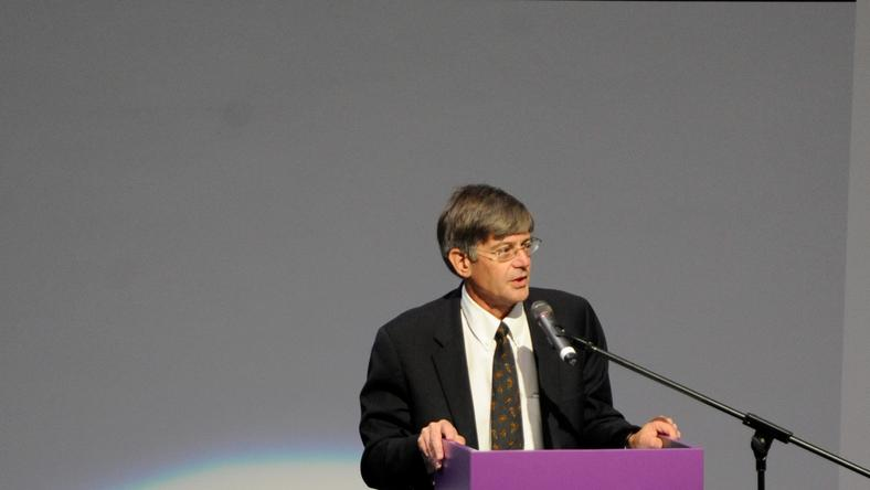 Zastępca Sekretarza Stanu USA Jim Steinberg podczas Wrocław Global Forum, fot. PAP/Grzegorz Hawałej