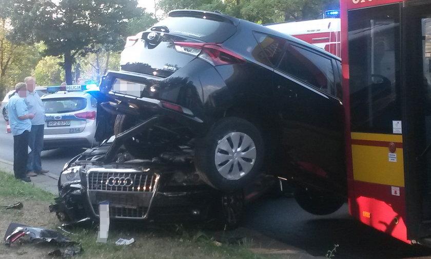 Wypadek na Sobieskiego w Warszawie