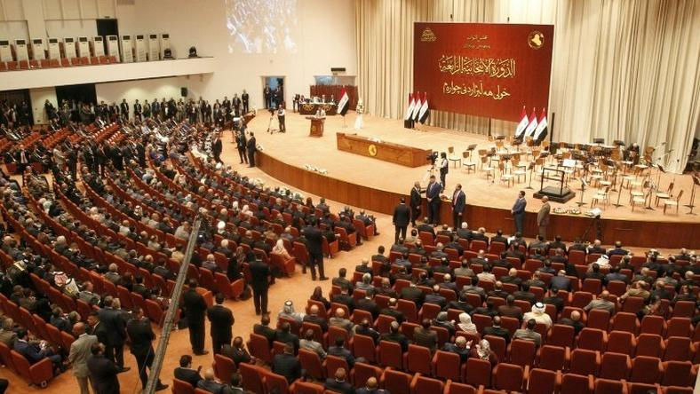 A general view of the Iraqi parliament during a meeting in the capital Baghdad on September 3, 2018