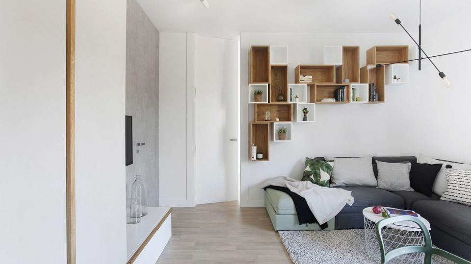Małe Mieszkanie W Stylu Skandynawskim świetny Trik W