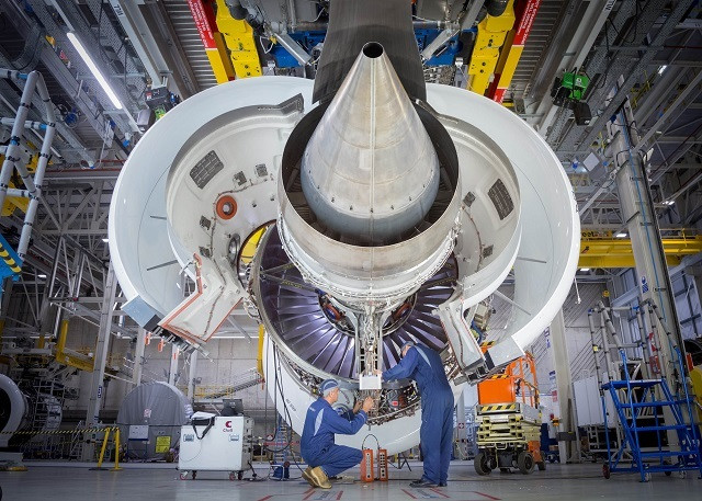An Airbus A330-800neo engine