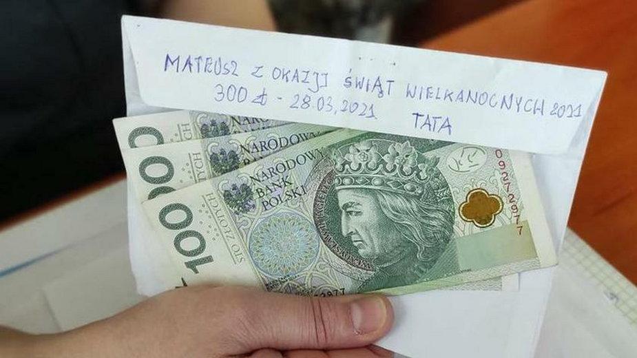Pomorze. 13-latek odzyskał kopertę z pieniędzmi od taty z okazji Wielkanocy