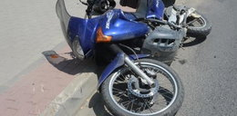 Groźny wypadek w Sanoku. Dzieci wbiegły pod rozpędzony motocykl