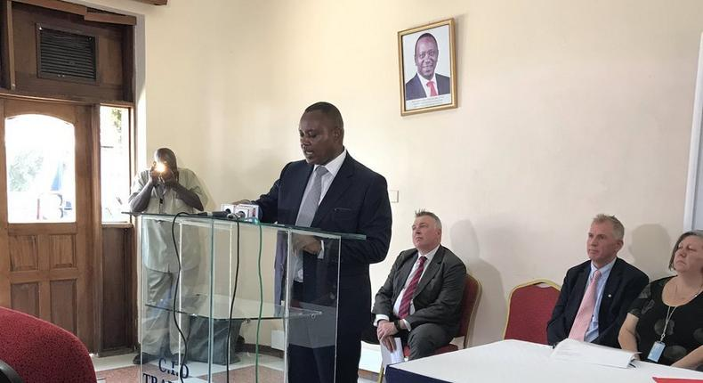 DCI George Kinoti at the opening of the Child Protection Unit