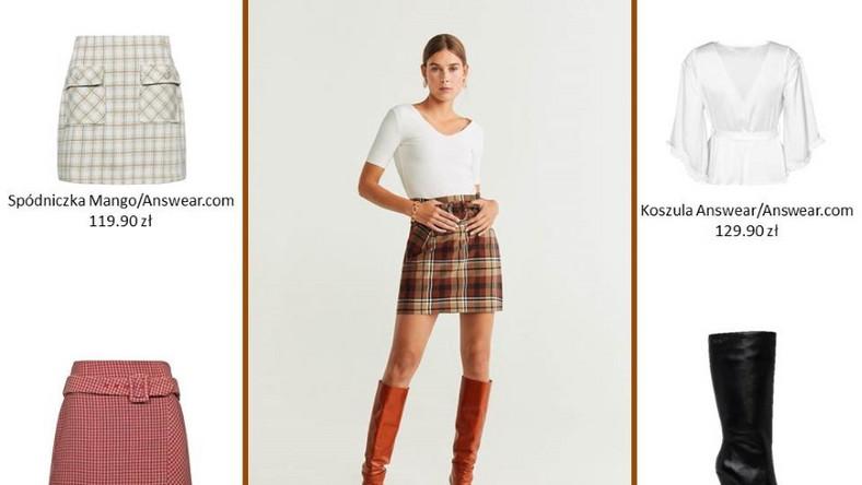 Kratka vichy to jeden z najbardziej popularnych trendów lat 50. Został on rozpowszechniony, dzięki niekwestionowanej ikonie stylu Brigitte Bardot. Wzór ten najlepiej prezentuje się z basicową bluzką albo koszulą w stonowanych kolorach. Strzałem w dziesiątkę będą długie, skórzane kozaki.