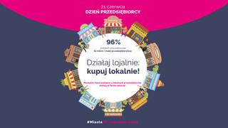 Dzień Przedsiębiorcy 2021 - Kampania informacyjna #MiastazPrzedsiębiorcami