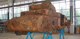 W Poznaniu remontują niemiecki czołg