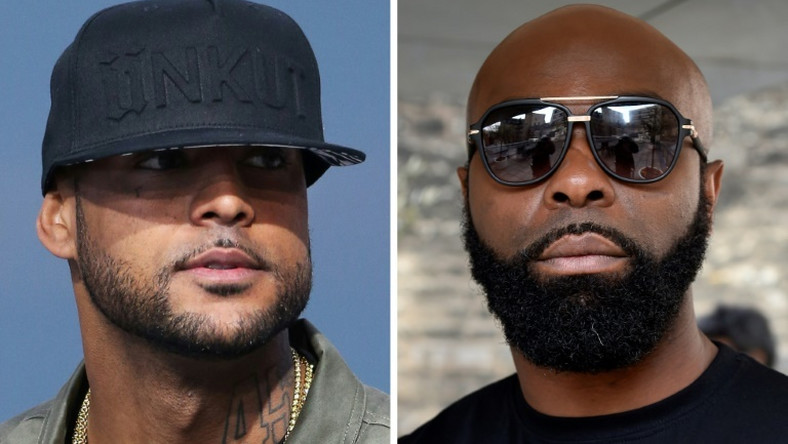 French rappers Booba (left) and Kaaris have a longrunning and bitter rivalry
