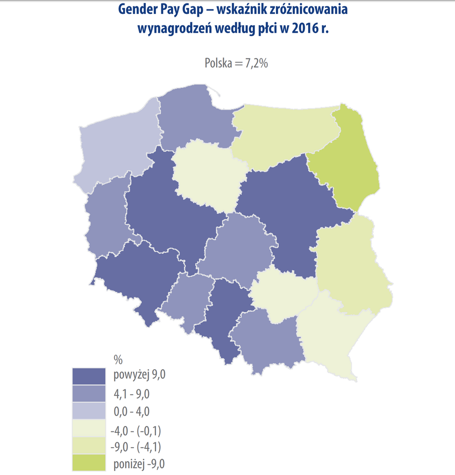 Gender Pay Gap w regionach