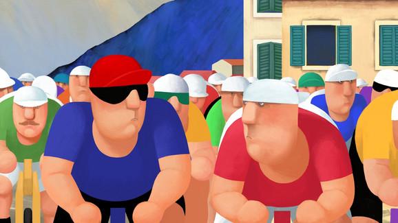 Biciklisti, animirani film