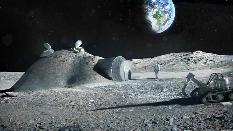 Lunar Base 3D printing