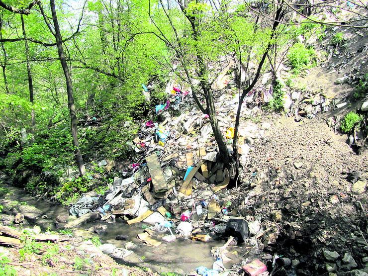 Potok u naselju Metalurg u Boru foto Jovan Janjic