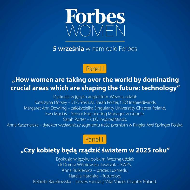 Forbes Women w Krynicy