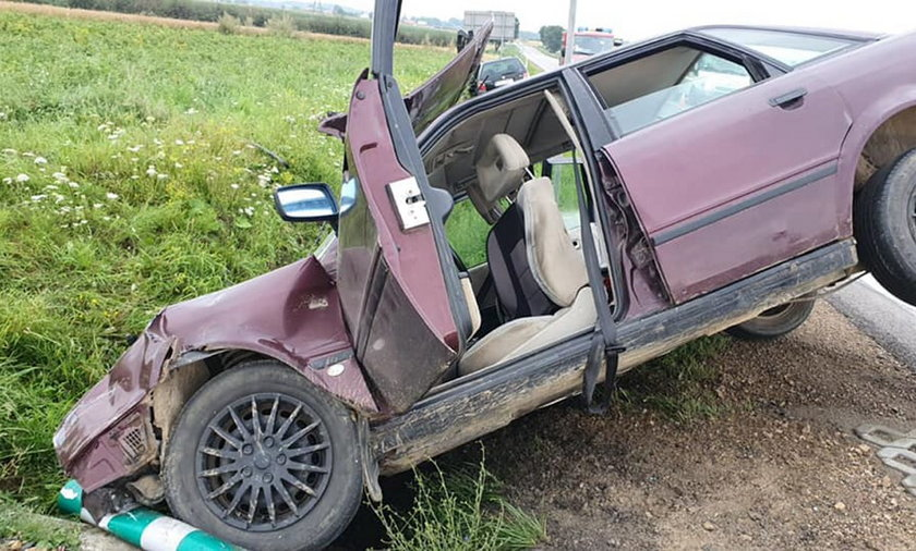 Wypadek w Goźlicach.