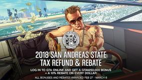 Zwrot podatku w GTA Online. Rockstar rozdaje setki tysięcy wirtualnych dolarów