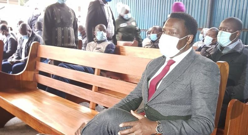 Tharaka Nithi Governor Muthomi Njuki when he appeared in court over Sh34 million corruption