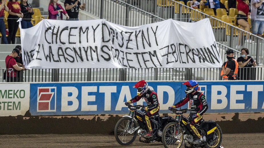 Transparent kibiców Betard Sparty Wrocław