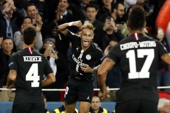 Nejmar slavi gol protiv Zvezde