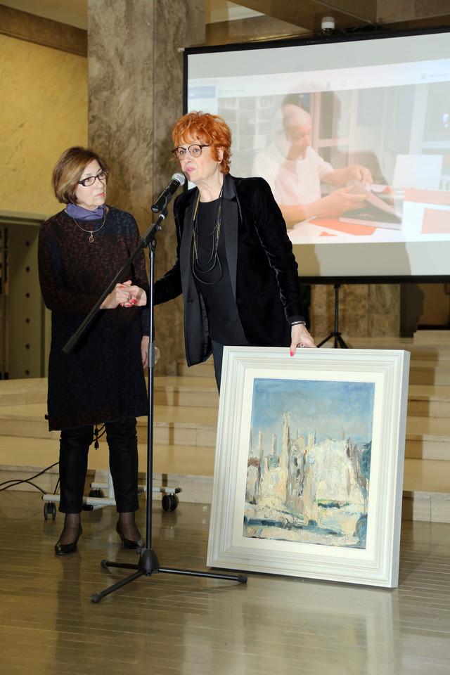 Direktorka Narodnog muzeja Bojana Borić-Bošković i umetnikova supruga Mirjana