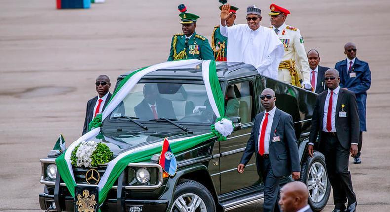 Muhammadu Buhari during swearing-in ceremony (Facebook/Femi Adesina)