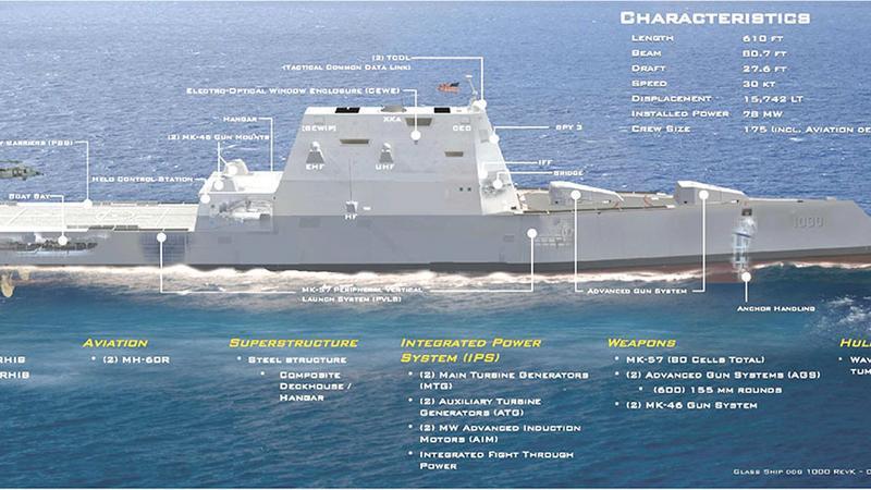 USS Zumwalt ma nową amunicję