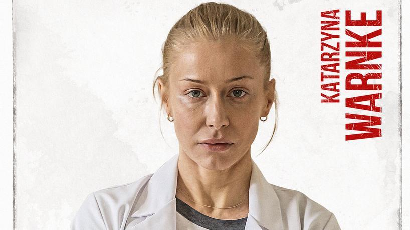 "Katarzyna Warnke na plakacie filmu ""Botoks"""