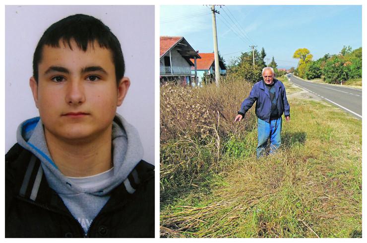 NIS01 povredjeni mladic Vladimir Miletic i mesto gde je povredjen foto Branko Janackovic